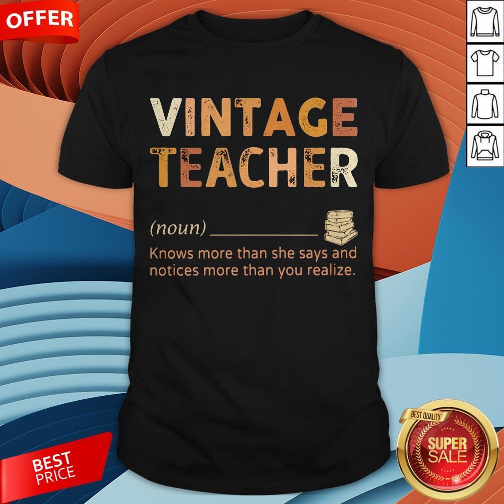 Vintage Teacher Knows More Than She Says Black Lives Matter Shirt
