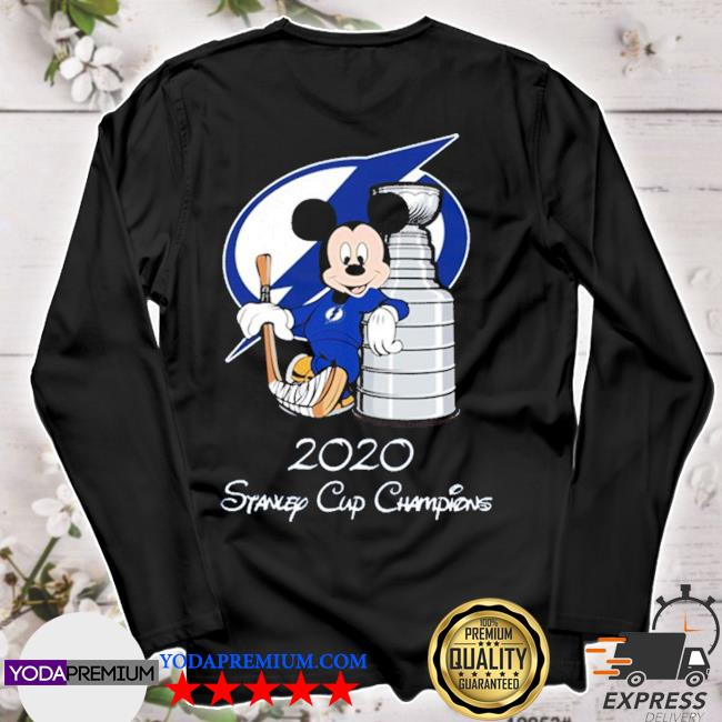 Tampa bay lightning mickey mouse 2020 stanley cup champions s longsleeve
