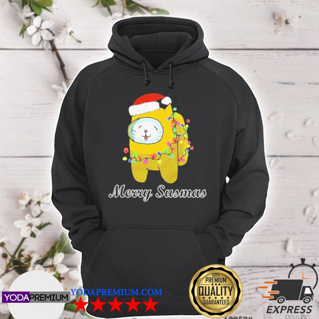 Official among us cat christmas s hoodie