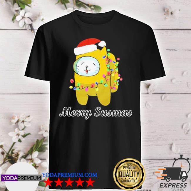 Official among us cat christmas shirt