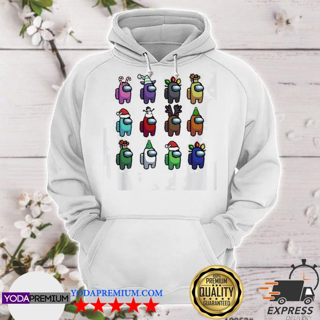 Official among us christmas character s hoodie