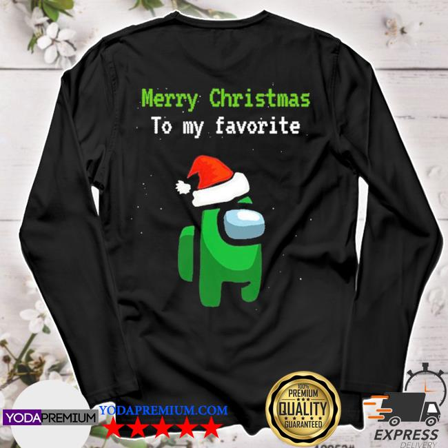 Official among us gamer merry christmas to my favorite s longsleeve