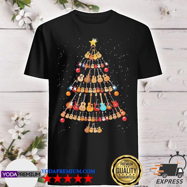 Official guitar christmas tree shirt