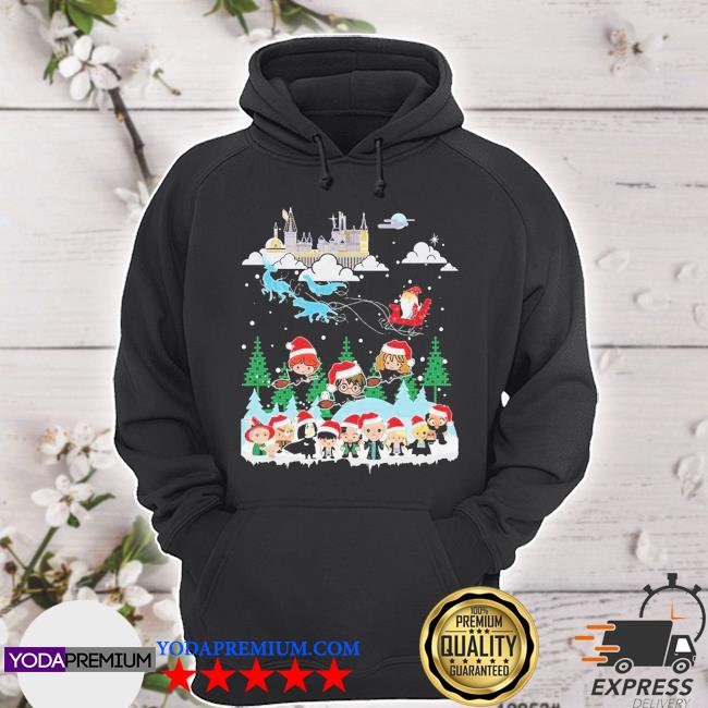 Official harry potter merry christmas chibi s hoodie