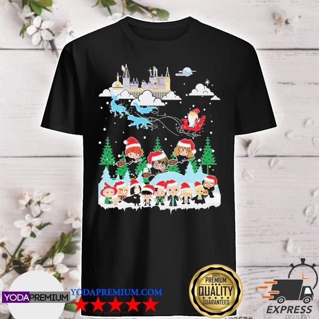 Official harry potter merry christmas chibi shirt