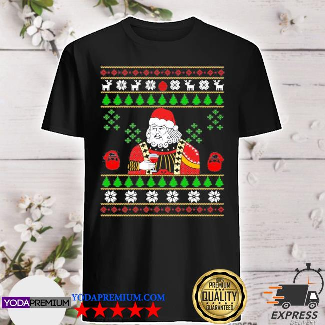 Official santa leonardo big fat jumper ugly christmas shirt
