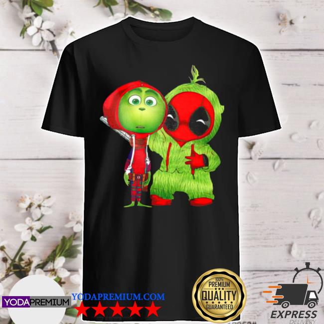 Official baby grinch and baby deadpool shirt