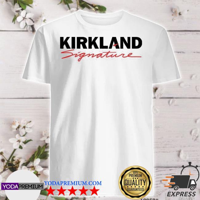 Official costco kirkland signature logo shirt