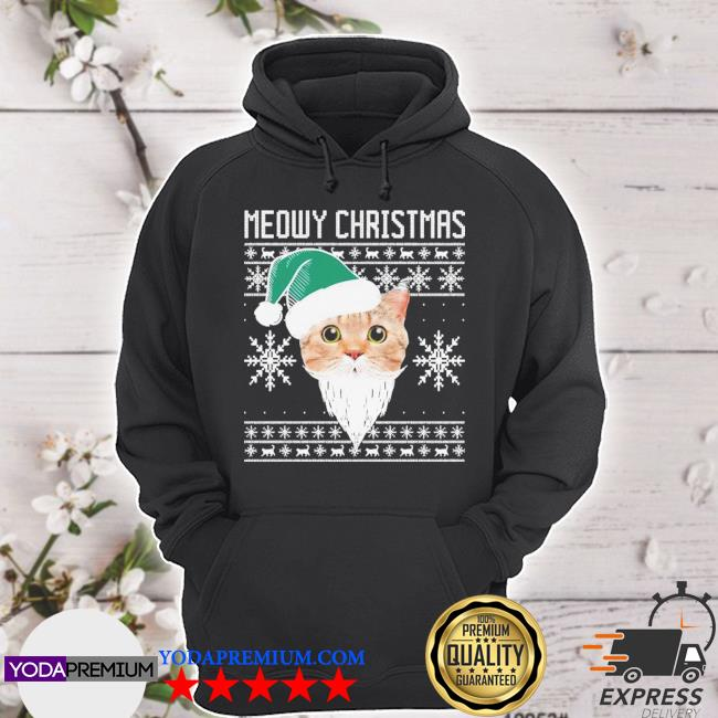 Official meowy christmas santa ugly s hoodie