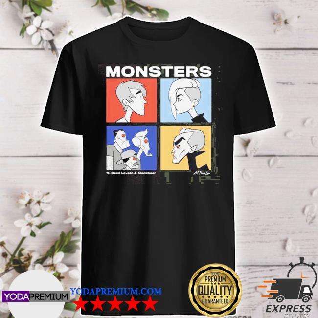 Official monsters demi lovato and blackbear shirt