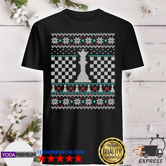 Official queen chess piece ugly christmas shirt