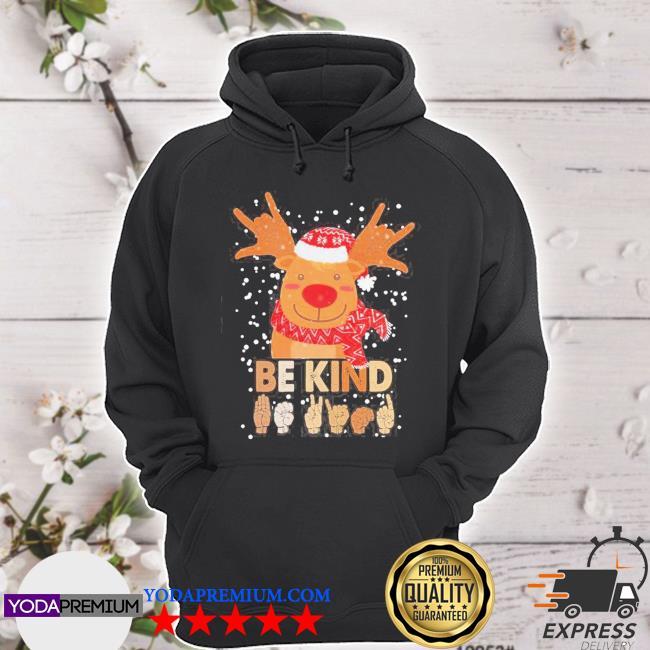 Official reindeer santa be kind christmas s hoodie