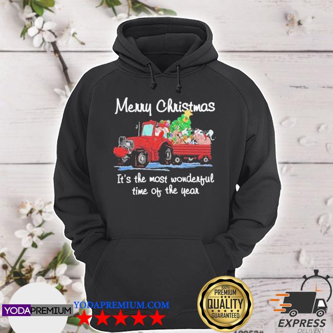 Official santa claus and animal merry christmas it's the most wonderful time of the year s hoodie