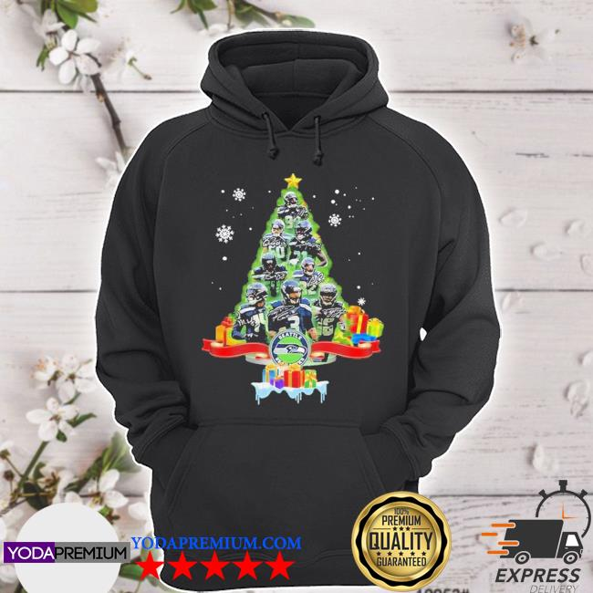 Official seattle seahawks player signatures christmas tree s hoodie