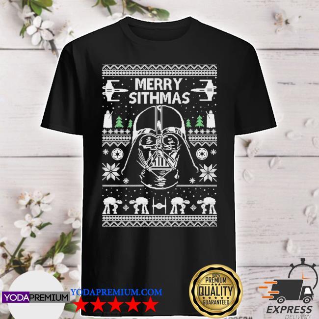 Official star wars darth vader ugly christmas shirt