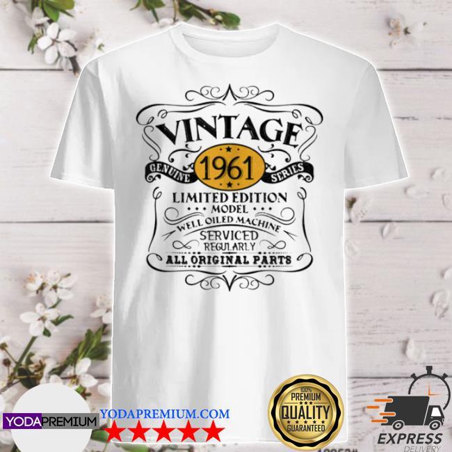 Official vintage 1961 60th birthday original shirt