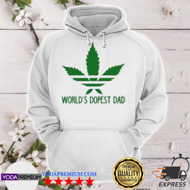 Official world's dopest dad adidas weed s hoodie