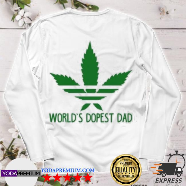 Official world's dopest dad adidas weed s longsleeve