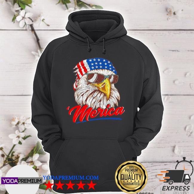 4th of july eagle mullet American flag merica s hoodie