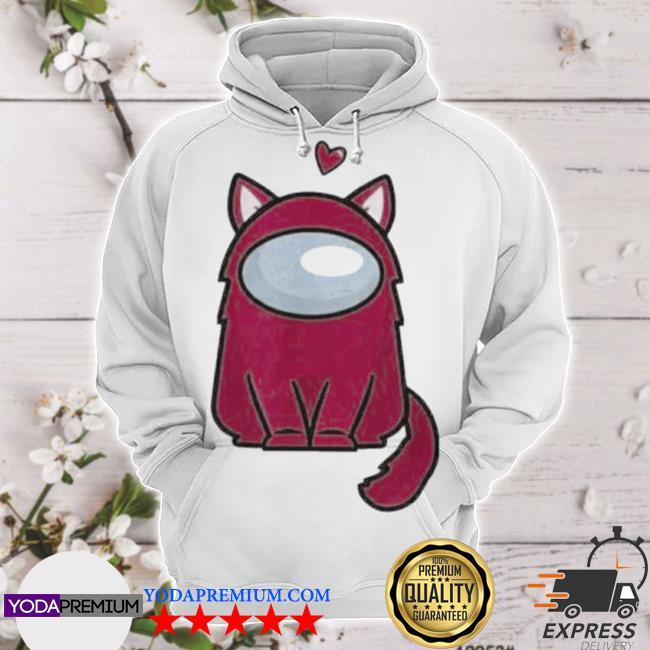 Among us cat is sus s hoodie