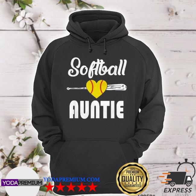 Auntie softball mother's day s hoodie