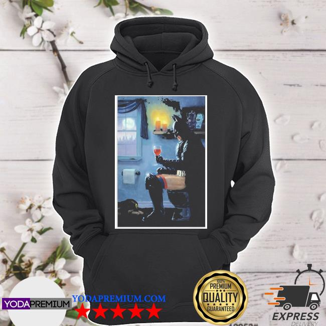 Batman Toilet and drink Wine s hoodie