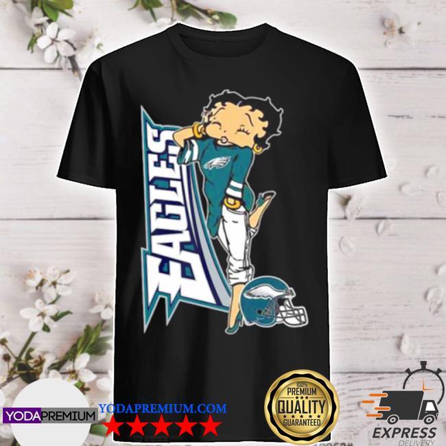 Betty boop philadelphia eagles football shirt