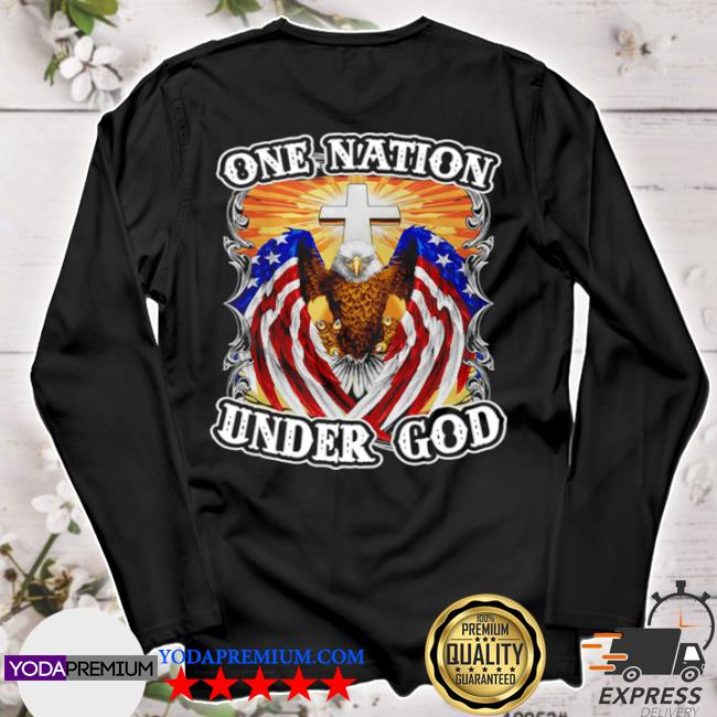 Eagles American flag one nation under god s longsleeve