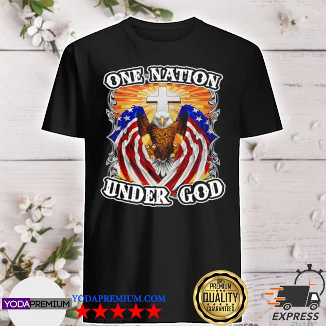 Eagles American flag one nation under god shirt