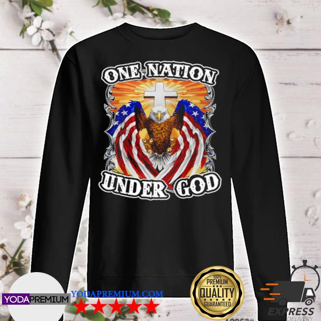 Eagles American flag one nation under god s sweater