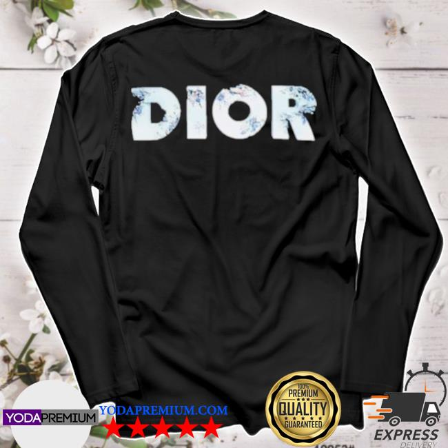 Erorded logo dior black cotton jersey with dior and daniel arsham eroded logo 3d print s longsleeve