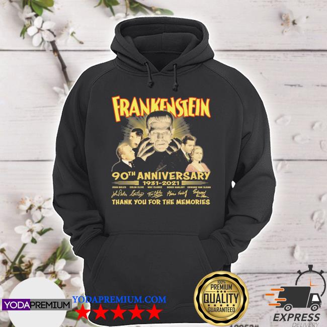 Frankenstein 90th anniversary 1931 2021 signatures thank you for the memories s hoodie