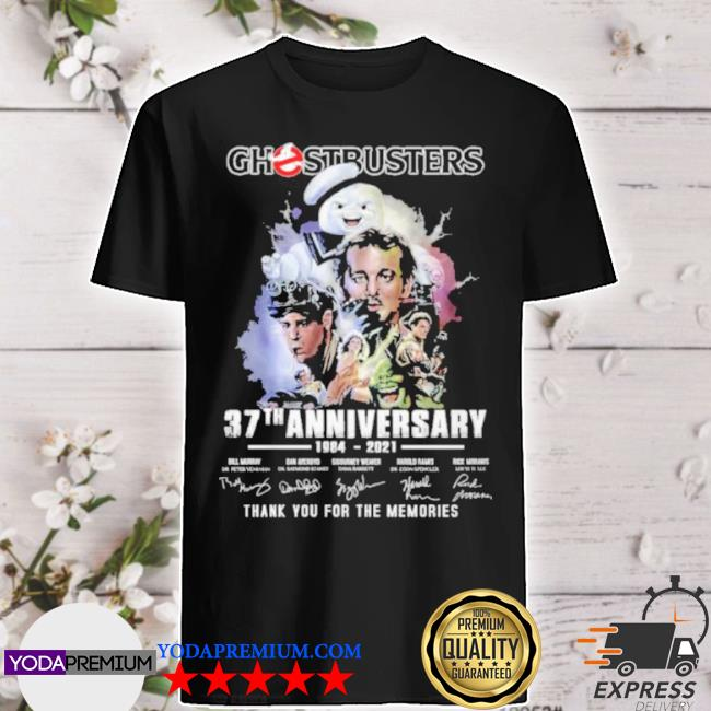Ghostbusters 37 th anniversary 1984 2021 thank you for the memories shirt