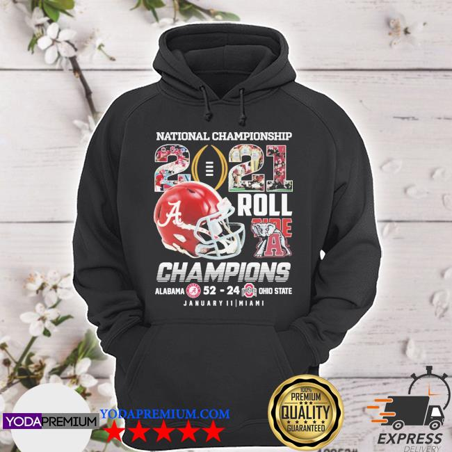 Helmet National Championship 2021 roll Tide Champions Alabama 52 23 January 11 miami s hoodie