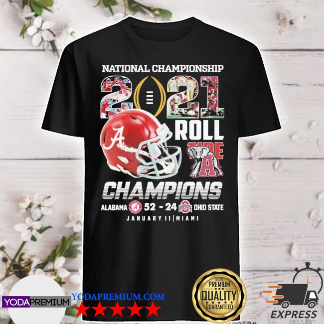 Helmet National Championship 2021 roll Tide Champions Alabama 52 23 January 11 miami shirt