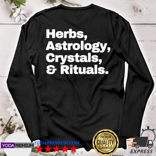 Herbs astrology crystals and rituals s longsleeve