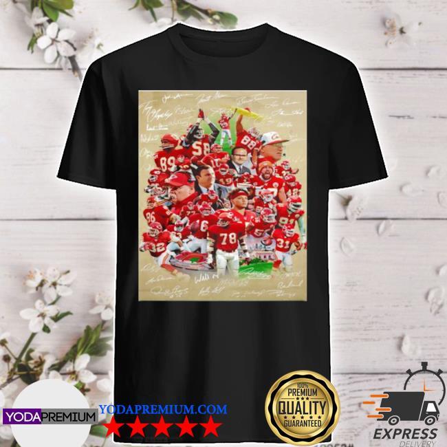 Kansas city Chiefs super bowl champions team players shirt