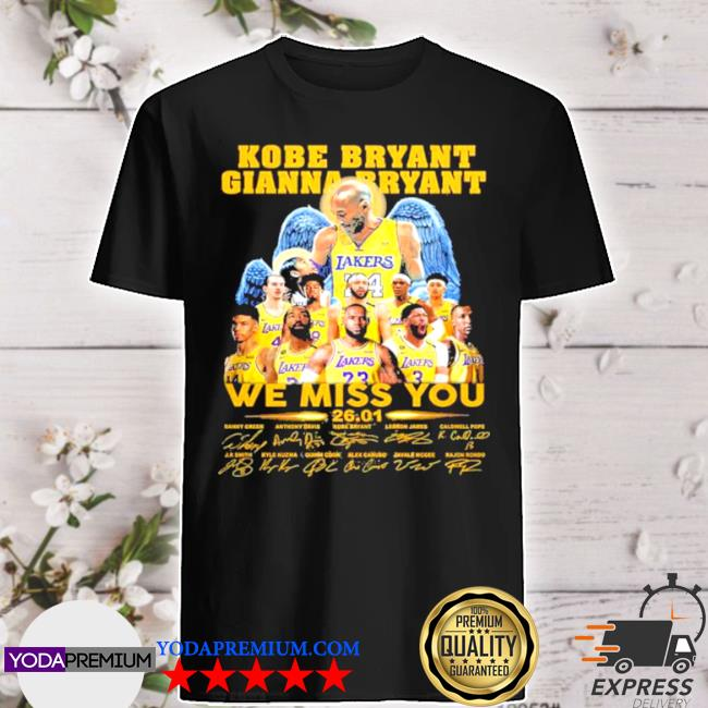 Kobe bryant gianna bryant we miss you shirt