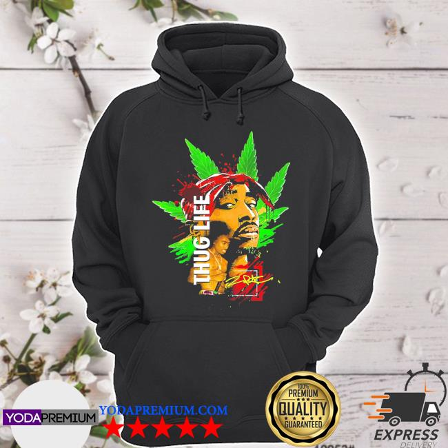 Official cannabis thug life signature s hoodie