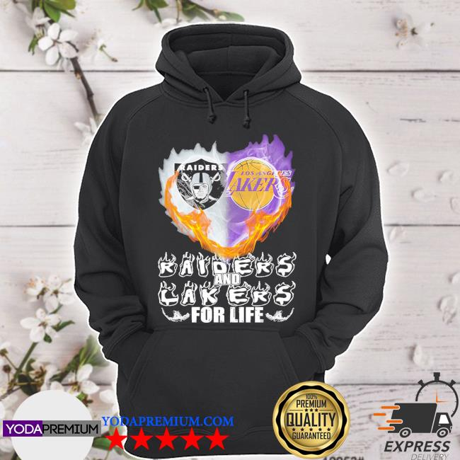 Official heart raiders and laker for life 2021 s hoodie