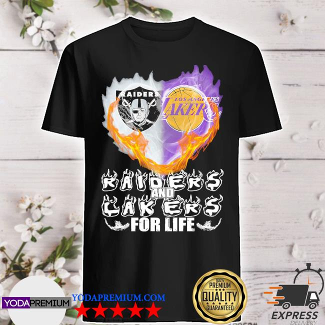 Official heart raiders and laker for life 2021 shirt