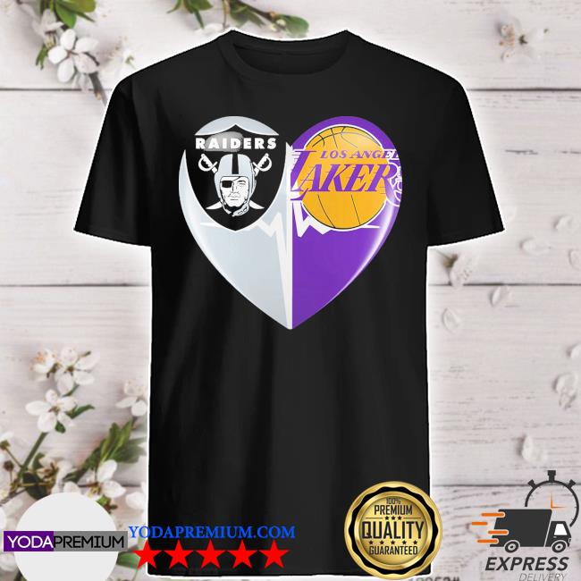 Official heart raiders and los angeles laker 2021 shirt