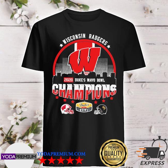 Official helmet wisconsin badgers 2020 duke's mayo bowl champions 2021 shirt