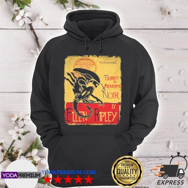 Official tournee du xenomorphe noir s hoodie