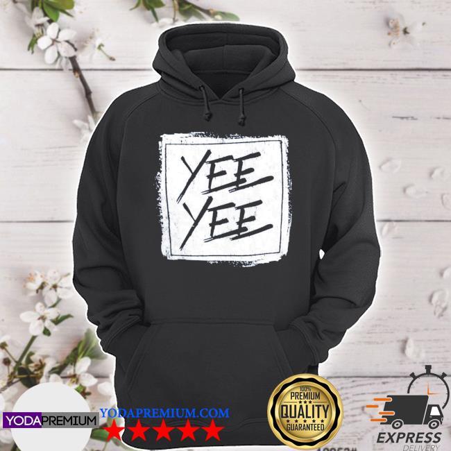 Official yee yee distressed square s hoodie