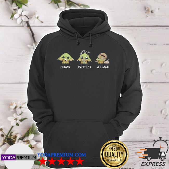 Official yoda snack protect attack s hoodie