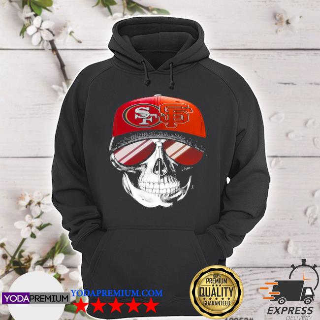 San francisco 49ers and los angeles Lakers skull sunglass s hoodie