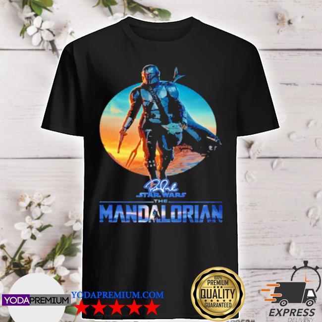 Signature Star wars the mandalorian sunset shirt