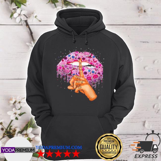 Sugar skull lip shut the fuck up s hoodie