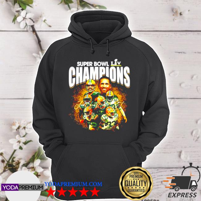 Super bowl liv champions green bay packers s hoodie